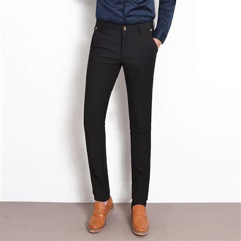 Slim Fit Atasan Formal Casual O Black Ot Kaos T Shirt Pria aliexpress buy new 2017 casual black slim fit trousers stretch korean