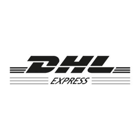 dhl express black logo vector ai  graphics