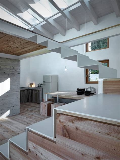 modern stone cabin  northern italy   romantic gem