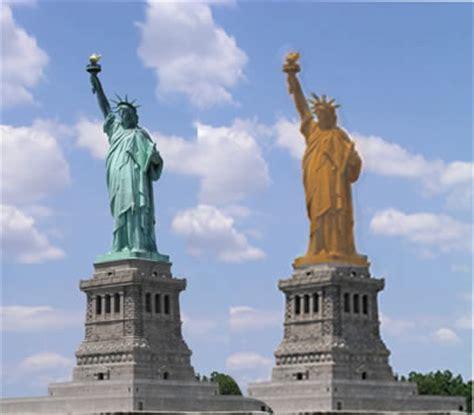 original statue of liberty color matter