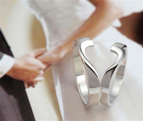 matching broken rings for couples split rings