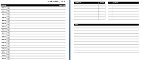 daily planner template word free daily weekly ms word planner templates office