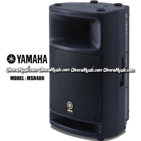 Yamaha Msr400 Powered Speaker yamaha powered speaker 400 watts olvera