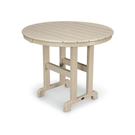 Round Plastic Patio Table   Crunchymustard