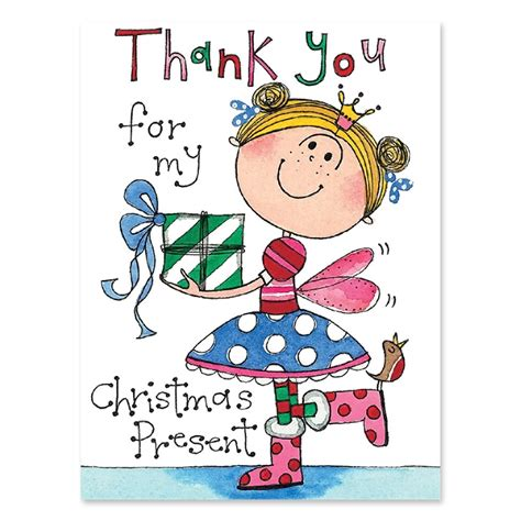 Thank You Cards Christmas Gifts - christmas present girl thank you cards christmas gifts party ark