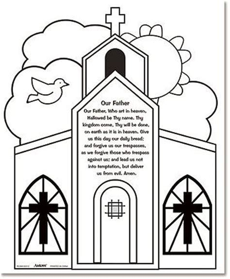 our father color your own prayers catholic crafts