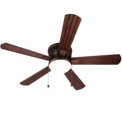 Outdoor Flush Mount Ceiling Fan Shop Harbor Oceanside 52 In Rubbed Bronze