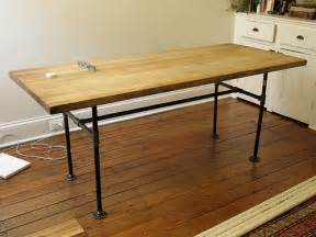 End Table Sets Cheap - wood plank and black pipe dining table goodman farmhouse