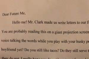 dear future fifty letters to the to be books notes this fifth grader s letter to future self