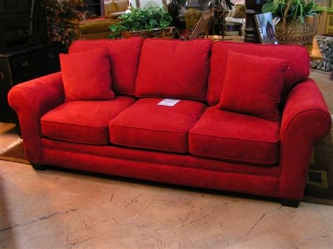 red sleeper sofa red microsuede sleeper sofa sofas we love pinterest