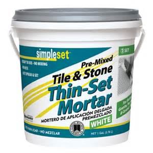 simpleset 174 pre mixed ceramic tile thin set mortar tile