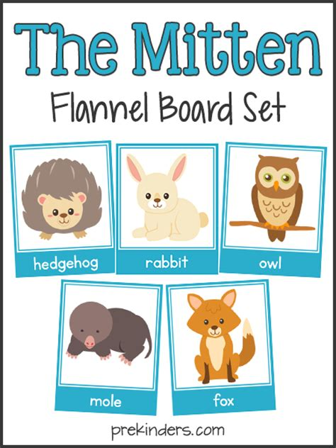 printable animal stories the mitten story sequencing flannel board cards