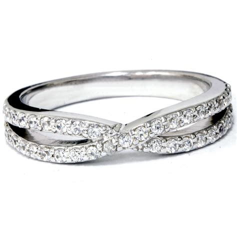 3 8ct crossover infinity twist ring white gold ebay