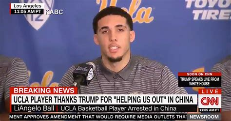donald trump liangelo ball total pro sports liangelo ball apologizes for his actions