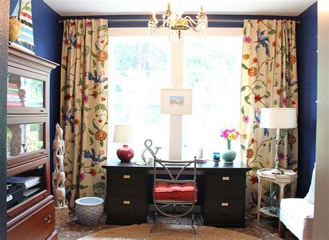 office curtains ideas before and after makeover decorating a home office