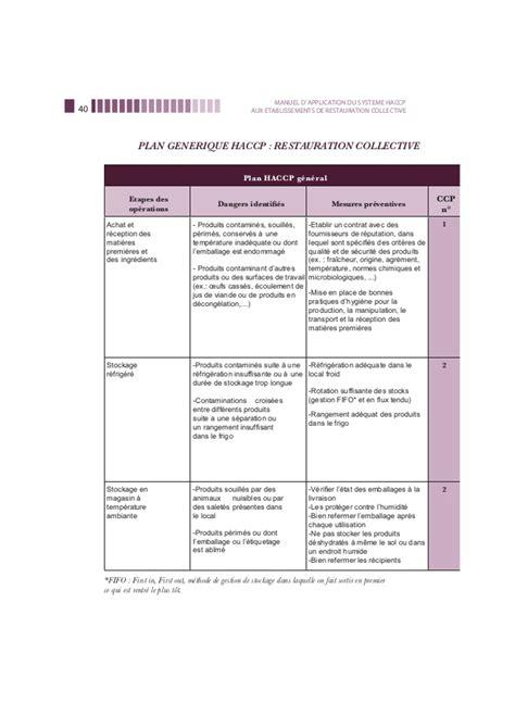 exemple de diagramme de fabrication restauration collective manuel haccp restauration collective