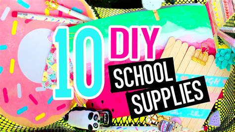 crafts for school 10 diy school supplies diy crafts for back to school with