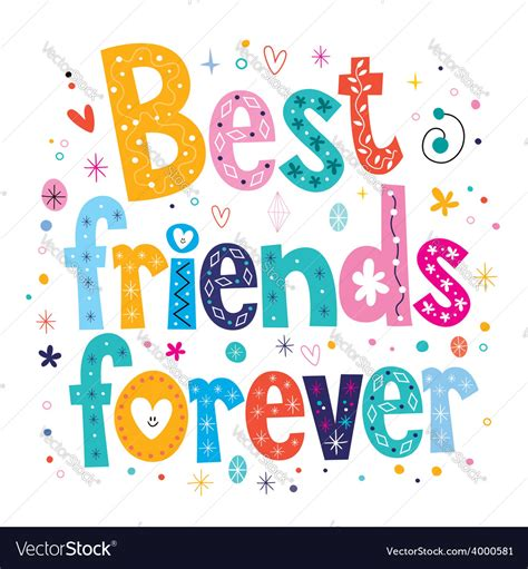 best friends forever best friends forever royalty free vector image