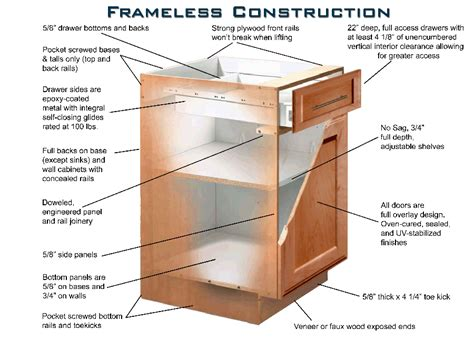 kitchen cabinet construction 28 building frameless kitchen cabinets how to build frameless wall cabinets how to build
