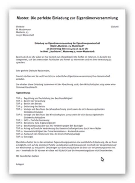 Muster Einladung Mitarbeiter Muster Einladung Eigent 252 Merversammlung Produkte Vorlagen Muster Co F 252 R Hausverwaltungen
