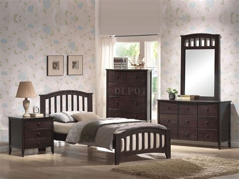 san marino bedroom collection san marino 4pc kids bedroom set 04985 in dark walnut w options