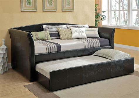 leather day bed delmar leather daybed with trundle