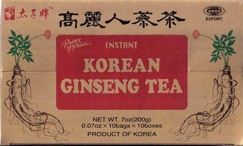 Korean Ginseng Tea prince of peace tea