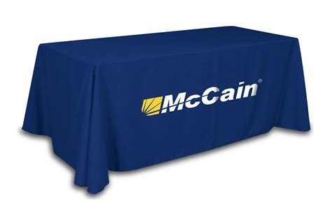 Table Throws by Table Throws For Trade Show Custom Imprinted With Your Logo