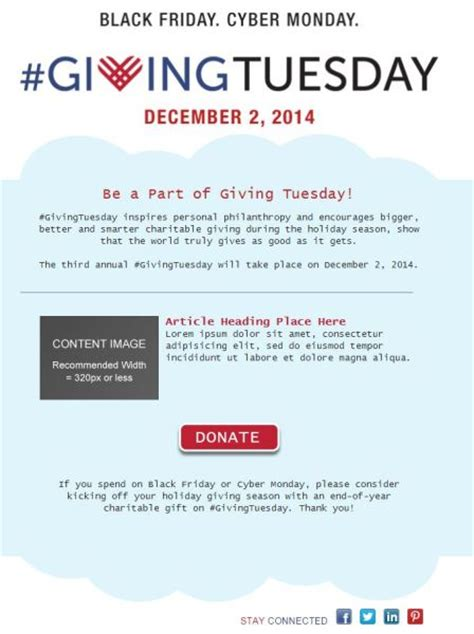 Is Your Organization Ready For Givingtuesday Constant Contact Blogs Reach Out Email Template