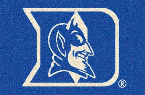 duke blue devils team logo area rug