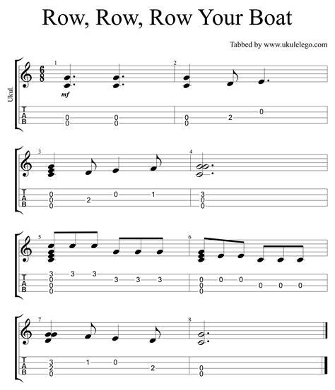 row boat guitar chords row row row your boat simple ukulele arrangement