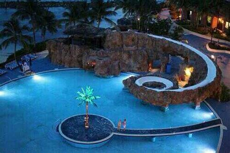 Cool Pool Slide Pool Time Pinterest Pool Slides And Cool Backyard Pools