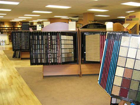 our showroom carpet vinyl tile stone blinds window