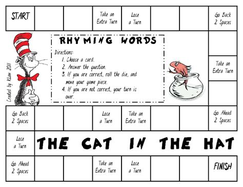 printable rhyming word games first grade a la carte dr seuss on the loose