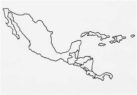 central america outline map free best photos of central america template blank central