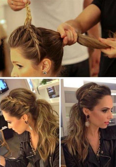 what will 2015 spring hairstyles look like peinado casual diario con coleta despeinada y trenza