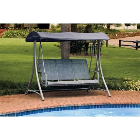three seat swing 3 seater swing seat cover black