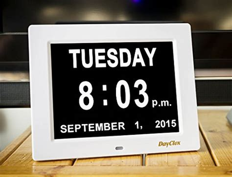 Calendar With Clock The 5 Best Calendar Clocks For The Elderly Product