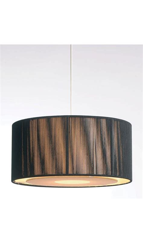 black and gold pendant ceiling stringed light shade
