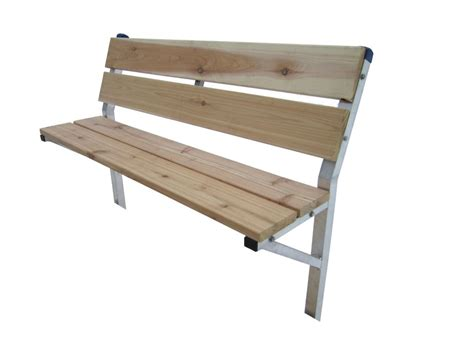 dock benches patriot docks 48 inch cedar dock bench kit with galvanized