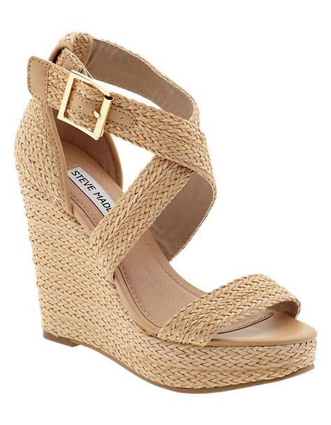 madden wedge sandals steve madden haywire espadrille wedge sandals in beige