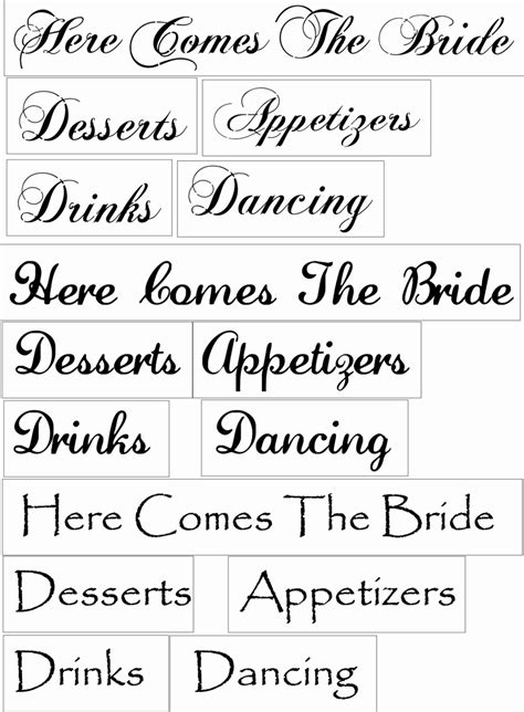Wedding Words by Wedding Words Set 3 Desserts Drinks Appetizers