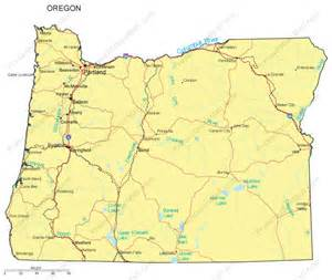 oregon powerpoint map counties major cities and major
