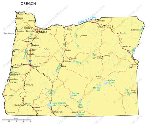 map of oregon major cities oregon map