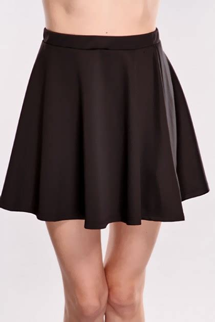 black high waist skater skirt clubwear