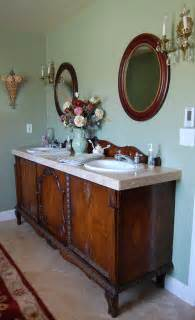 Antique Furniture Turned Into Bathroom Vanity Antique Sideboard Buffet Turned Into Sink Vanity Bathroom Other Metro