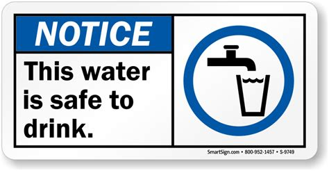 potable water fresh drinking water signs free shipping