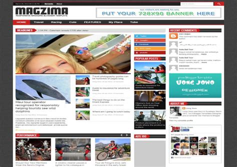magzima responsive blogger template free download free