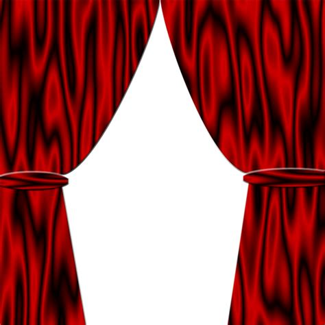 Red Satin Curtains Pre Made Background By Viktoria Lyn On