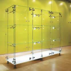 White Glass Bookcase El Uso De Las Vitrinas Decorativas De Cristal